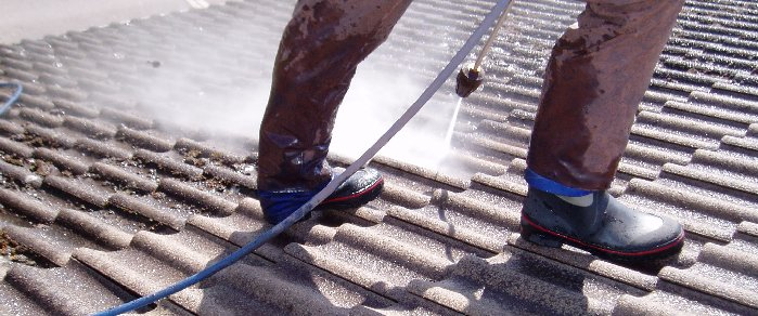 Taktvätt av betongtak