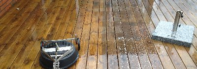 nytt, fräsht verandagolv